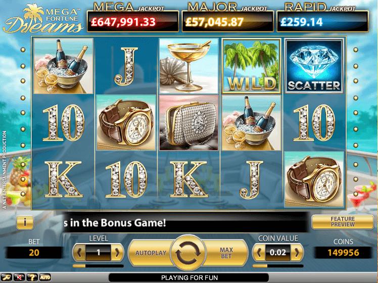 Rekordstore progressive jackpotter på nett Mega Fortune Dreams