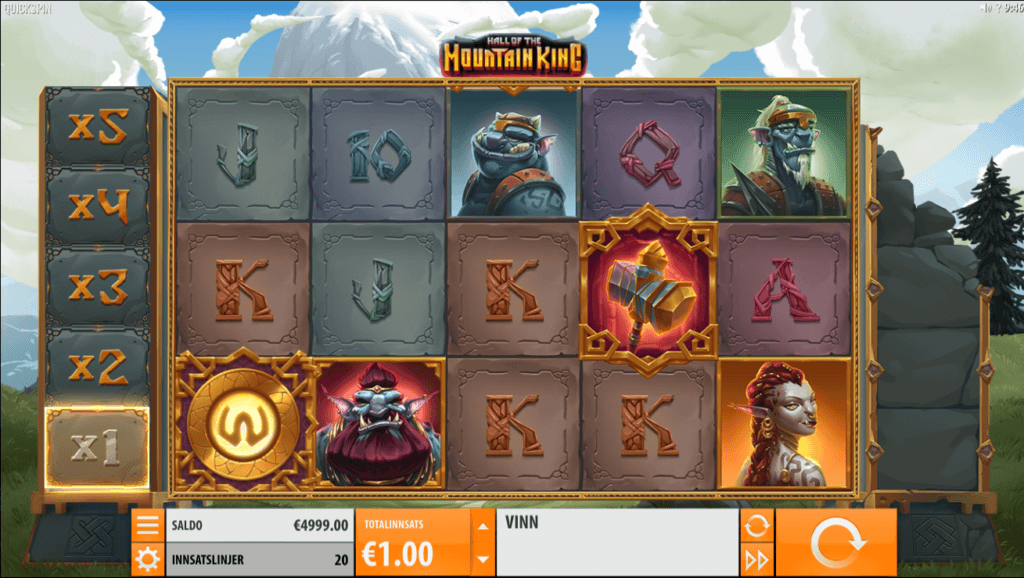 Hall of the Mountain King - nytt spill og nytt casino