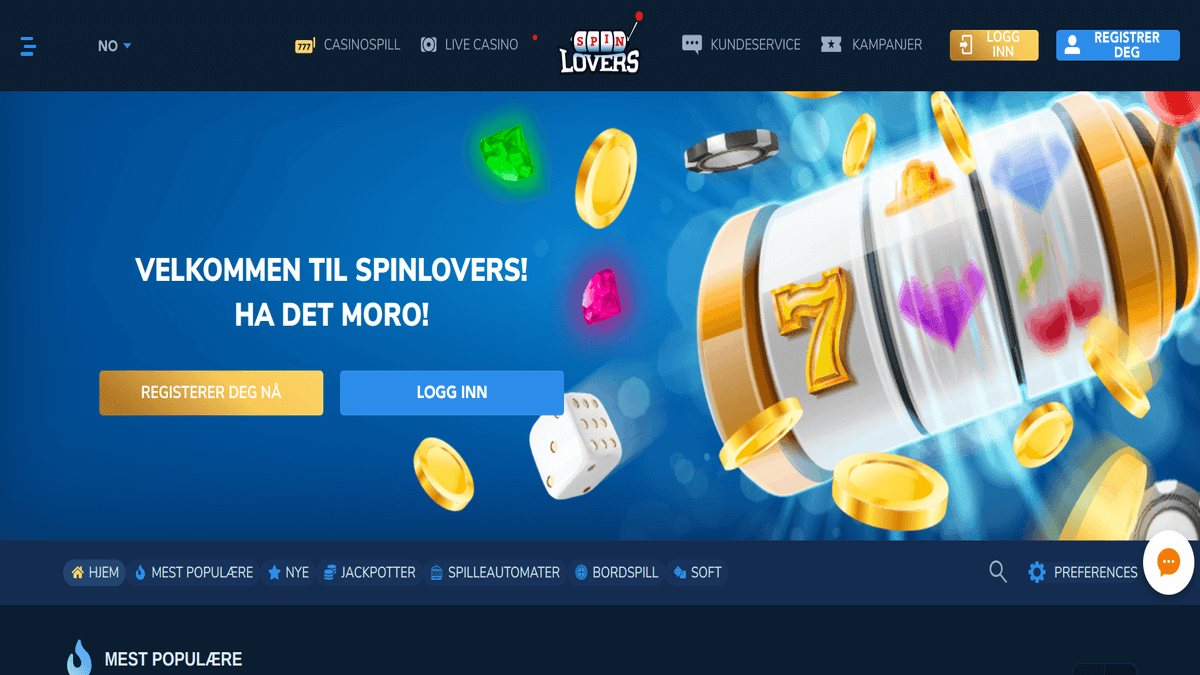 SpinLovers - nytt casino på nett 2019