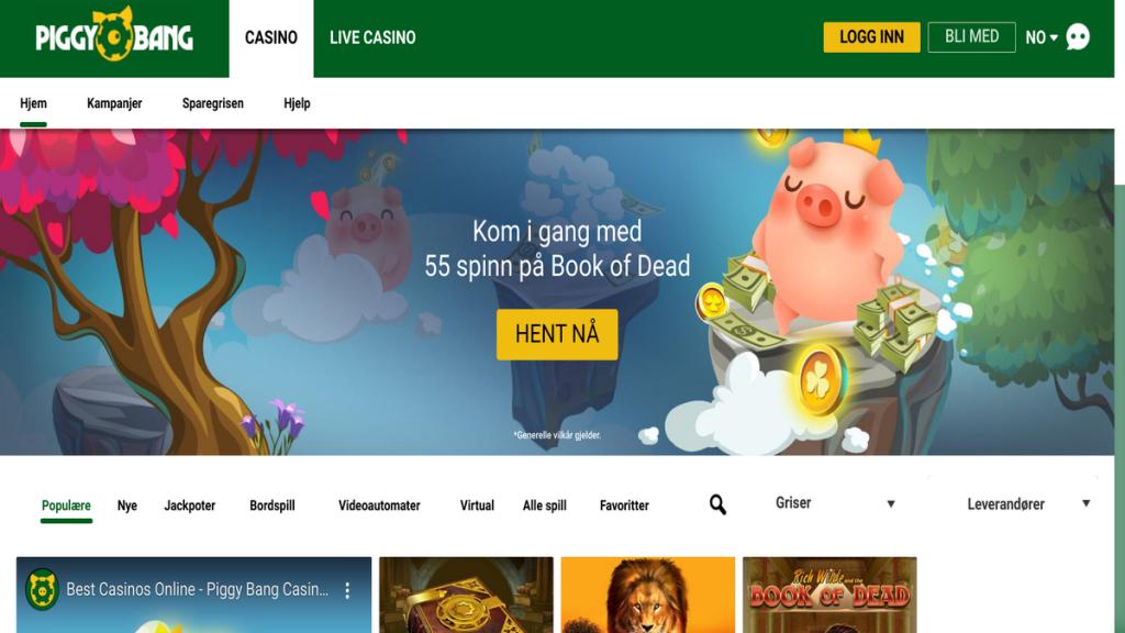 Piggy Bang casino på nett