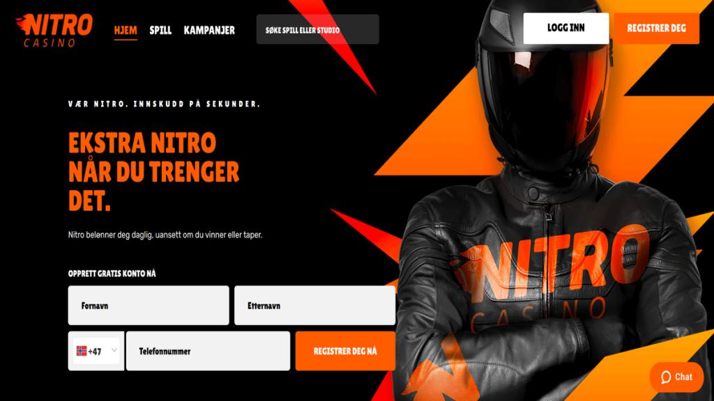 anmeldelse test Nitro Casino med cashback